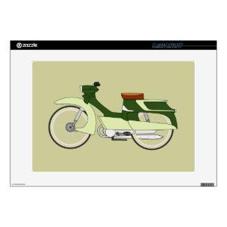 "RETRO MOTORBIKE 15"" Laptop Skin For Mac & PC"