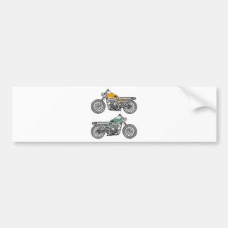 Retro Motorcycle Vector Sketch Bumper Sticker