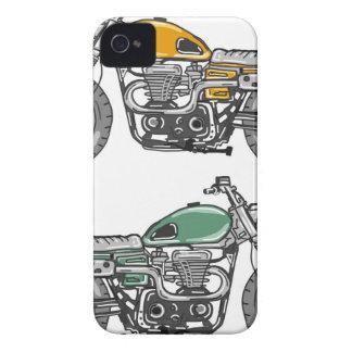 Retro Motorcycle Vector Sketch iPhone 4 Case-Mate Case