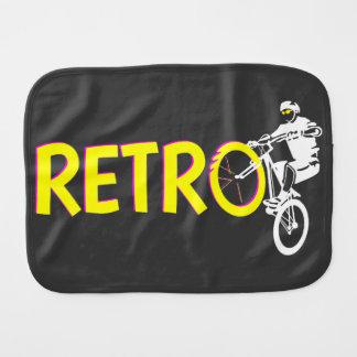 Retro mountain bike rider baby burp cloth