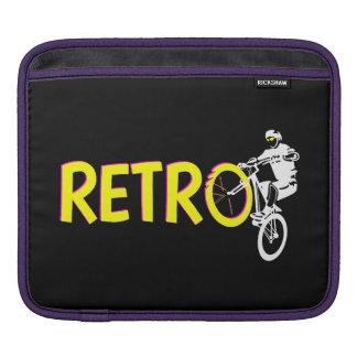 Retro mountain bike rider iPad sleeves