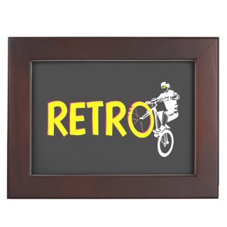Retro mountain bike rider memory box