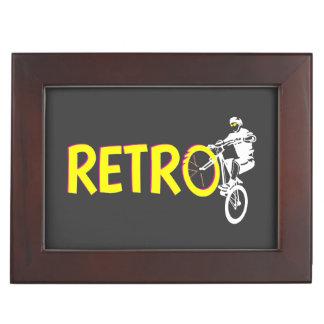 Retro mountain bike rider memory box