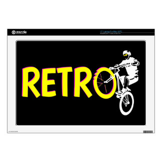 Retro Mountain Bike Wheel Stand Decal For Laptop