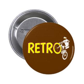 Retro Mountain Bike Wheel Stand Pinback Button