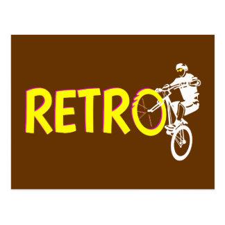 Retro Mountain Bike Wheel Stand Postcard