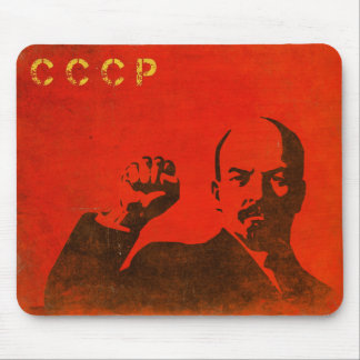 Retro Mousepad with Vintage Lenin USSR Print