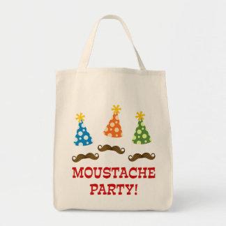 Retro Moustache Party Tote Bag