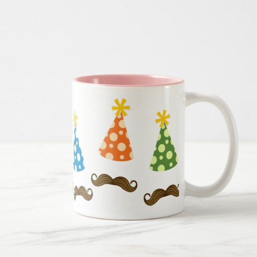 Retro Moustache Party Coffee Mugs