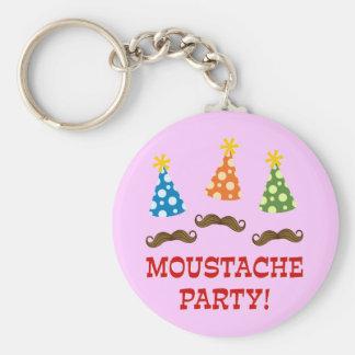 Retro Moustache Party Key Chains