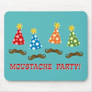 Retro Moustache Party Mouse Pad