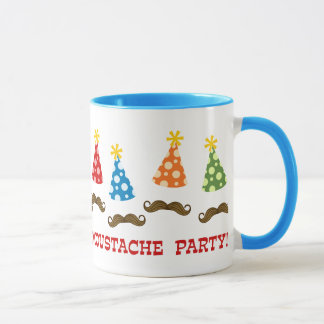 Retro Moustache Party Mug
