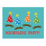 Retro Moustache Party Postcard
