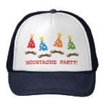 Retro Moustache Party Trucker Hat