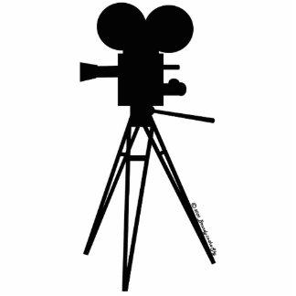 Retro Movie Camera Silhouette Acrylic Cut Out