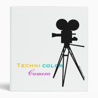 Retro Movie Camera Silhouette Binder