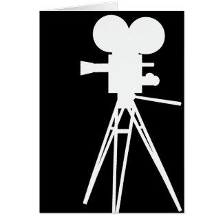 Retro Movie Camera Silhouette Card
