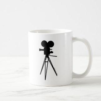 Retro Movie Camera Silhouette Classic White Coffee Mug