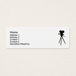 Retro Movie Camera Silhouette Profile Cards