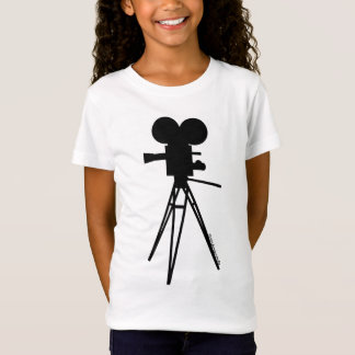 Retro Movie Camera Silhouette T-Shirt