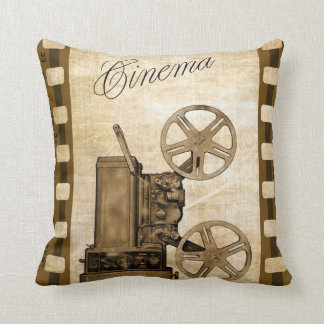 Retro Movie Projector Throw Pillow