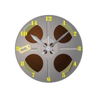 RETRO MOVIE REEL (WITH NUMBERS) ROUND CLOCK