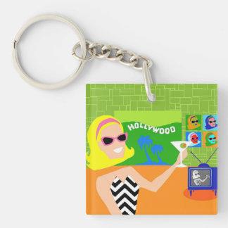 Retro Movie Star Acrylic Keychain
