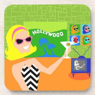 Retro Movie Star Hard Plastic Coasters