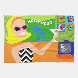 Retro Movie Star Kitchen Towel