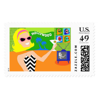 Retro Movie Star Postage Stamps