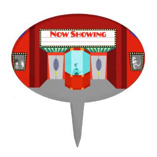 Retro Movie Theater Cake Pick