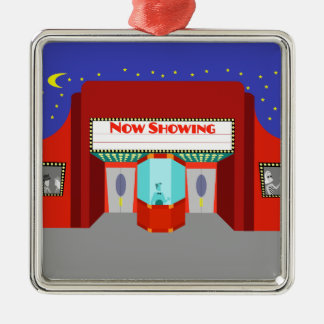 Retro Movie Theater Christmas Ornament