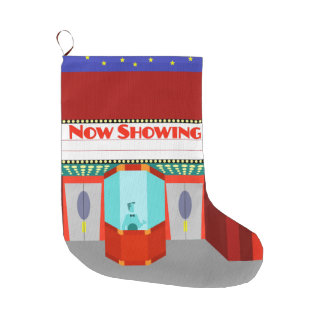 Retro Movie Theater Christmas Stocking