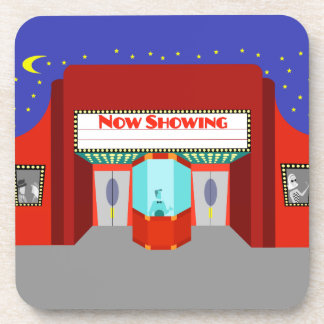 Retro Movie Theater Hard Plastic Coasters