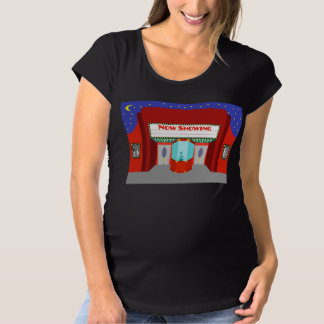 Retro Movie Theater Maternity T-Shirt