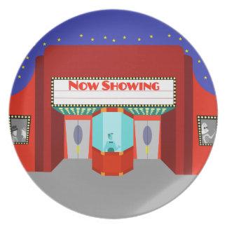 Retro Movie Theater Melamine Plate