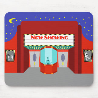 Retro Movie Theater Mousepad