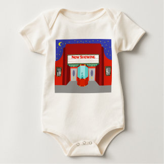 Retro Movie Theater Organic Baby Creeper