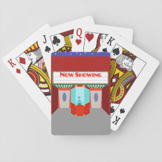 Retro Movie Theater Playing Cards