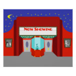 Retro Movie Theater Poster