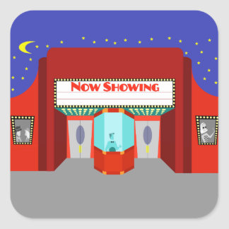 Retro Movie Theater Stickers
