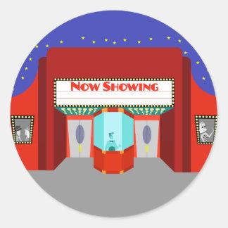 Retro Movie Theater Stickers
