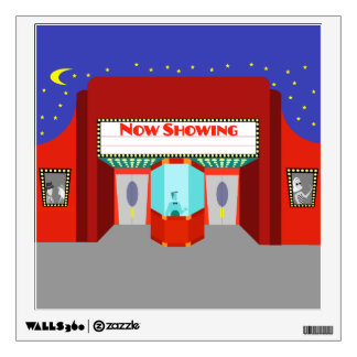 Retro Movie Theater Wall Decal