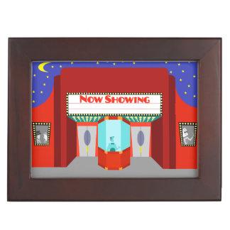 Retro Movie Theater Wooden Keepsake Box