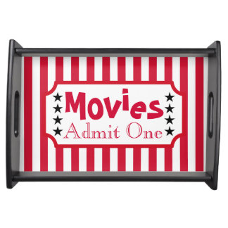 Retro Movie Ticket Snack Party Tray Gift