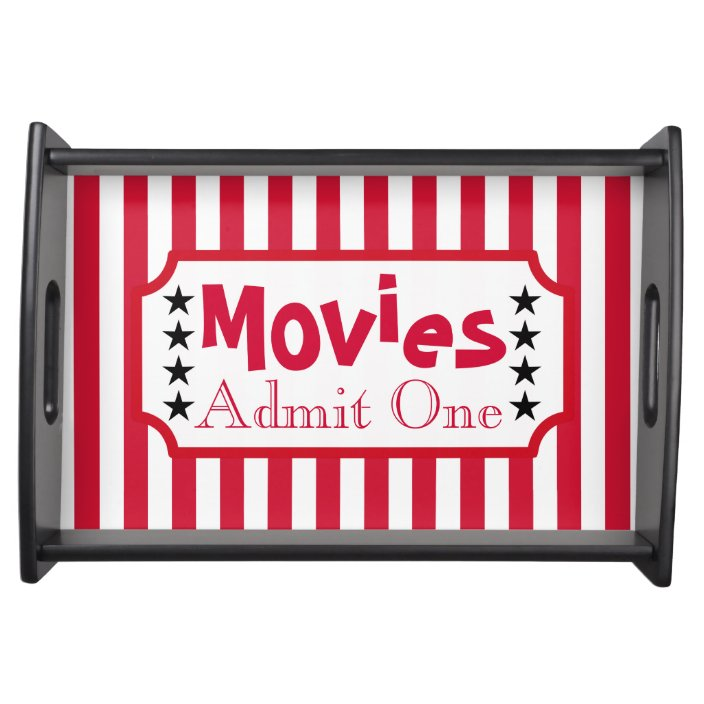 Retro Movie Ticket Snack Party Tray Gift Zazzle Com