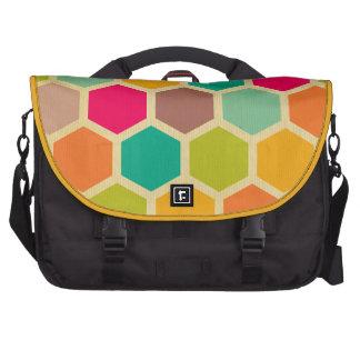 Retro multi color chevron zig zag  vintage trendy computer bag