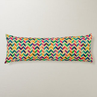 Retro multi color chevron zig zag  vintage trendy body pillow