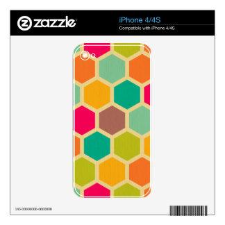 Retro multi color chevron zig zag  vintage trendy decal for iPhone 4S