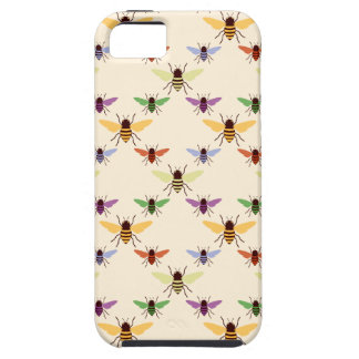 Retro multi color rainbow bees bumblebees pattern iPhone 5 cover